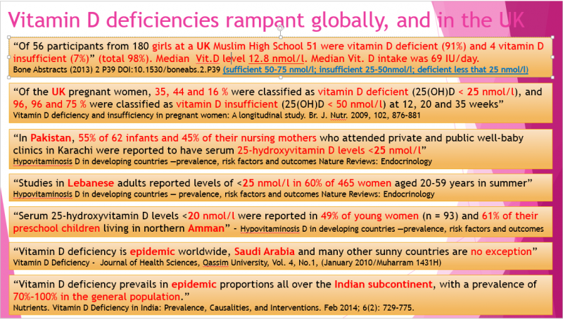Vitamin D - Powerpoint slide - R Brown